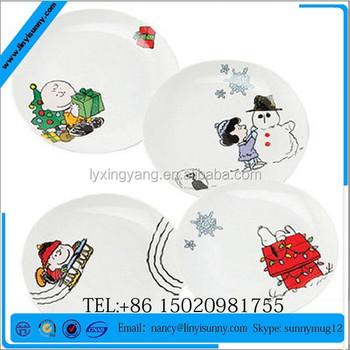 Christmas Plate Set.Peanuts Cartoon Art Christmas Holiday Ceramic Plate Set Buy Christmas Plate And Mug Set Personalized Ceramic Plates Christmas Hand Painted Ceramic