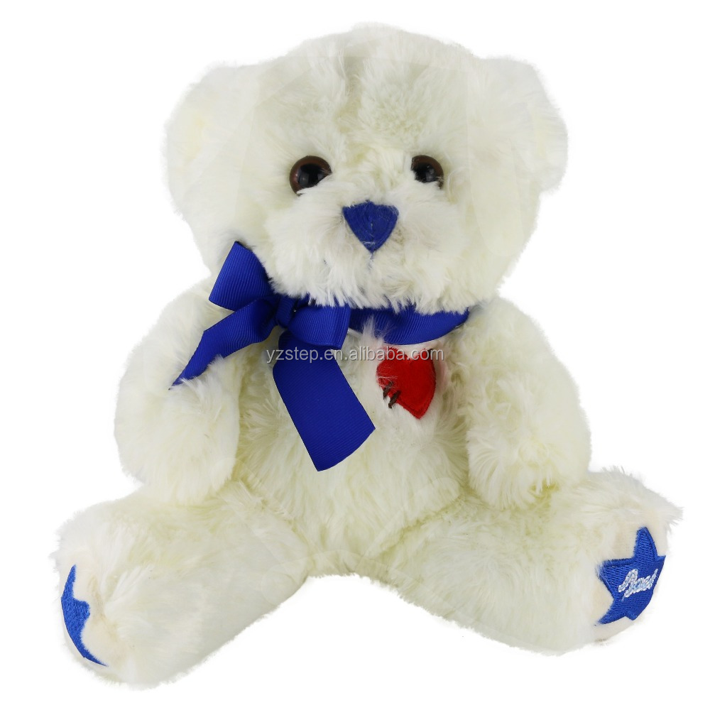 Valentine Gift White Cuddly Teddy Bear Plush Toy