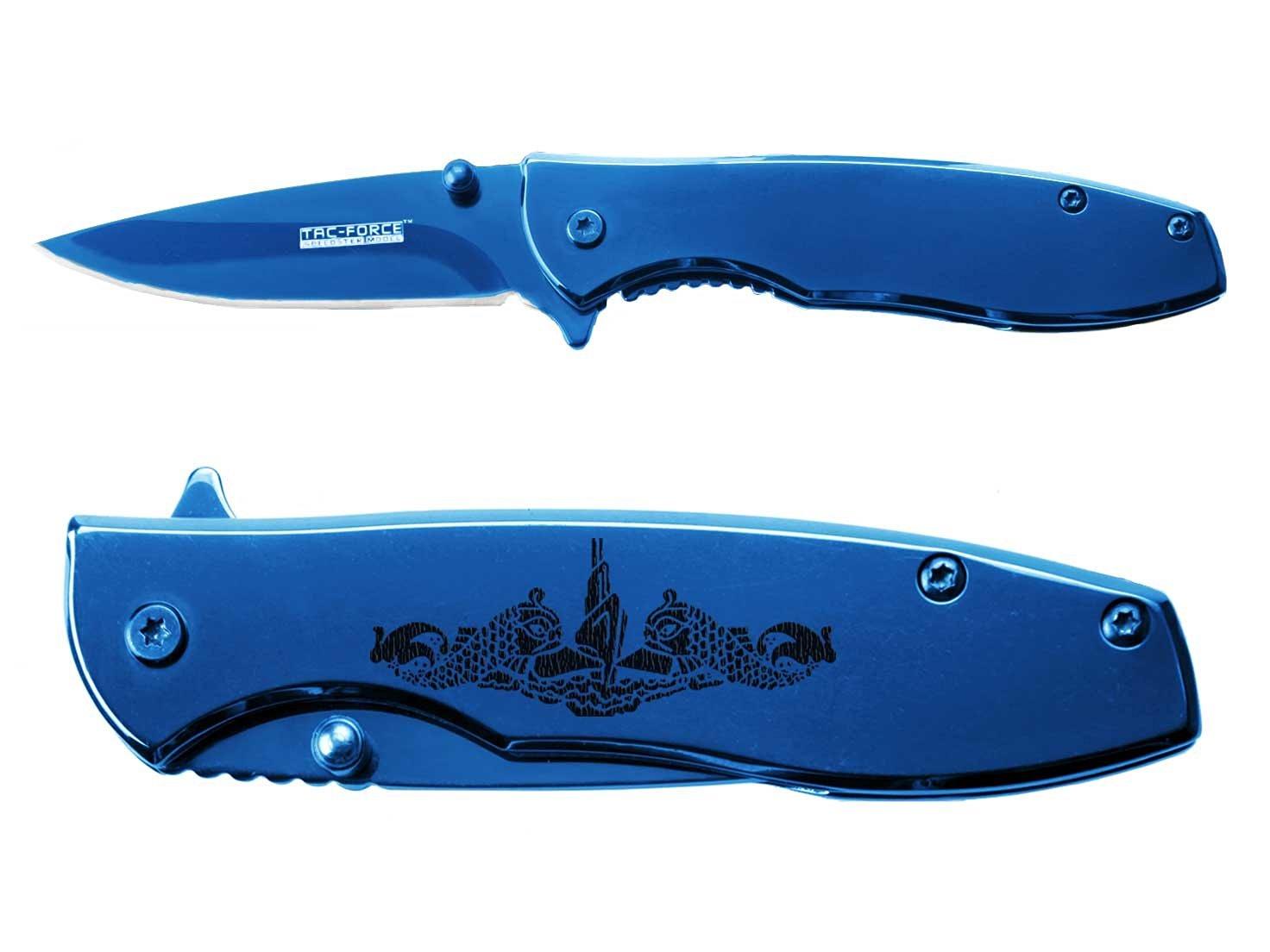Tac-Force 2.5'' Spring Assisted Pocket Knife TF573BL NDZ Submarine Warfare Logo
