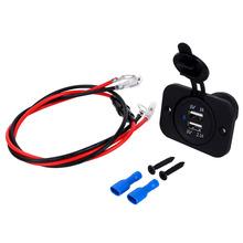 2016 New Arrive Dual USB Car Cigarette Lighter Socket Splitter 12V Charger Power Adapter Outlet Parts Auto