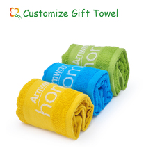 100% cotton brand promotional towel China gift ideas
