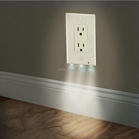 Wall outlet cover New Arrival Face Plug Cover plate with Best LED Night light