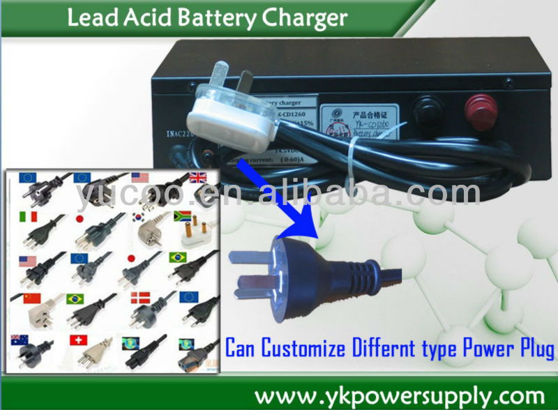 AC 220V input, DC 24/36V 25A output auto acid battery charger for Lead Acid Batteries