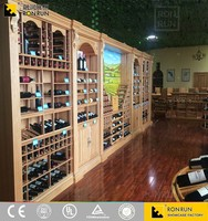 2017 NEW Wine display showcase for wine shop decoration interior designs