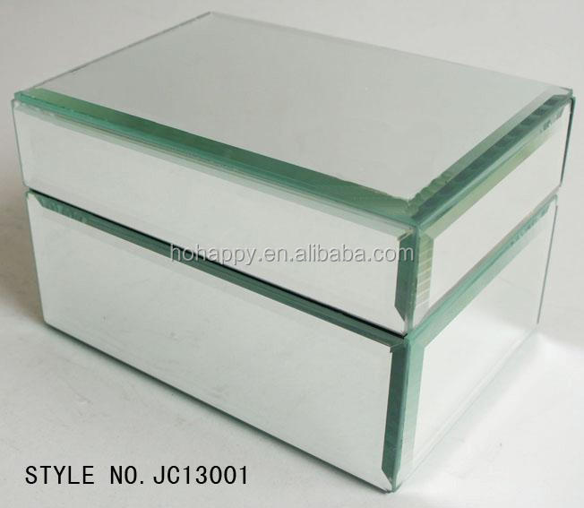 Small Glass crystal Mirrored Trinket Boxes