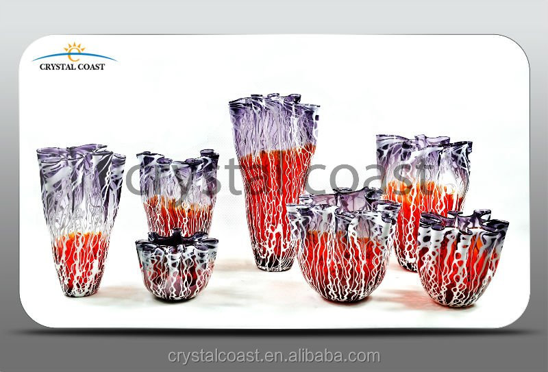 Cheap Tall Red Decorative Vases For Hotelslarge Red Glass Vase For