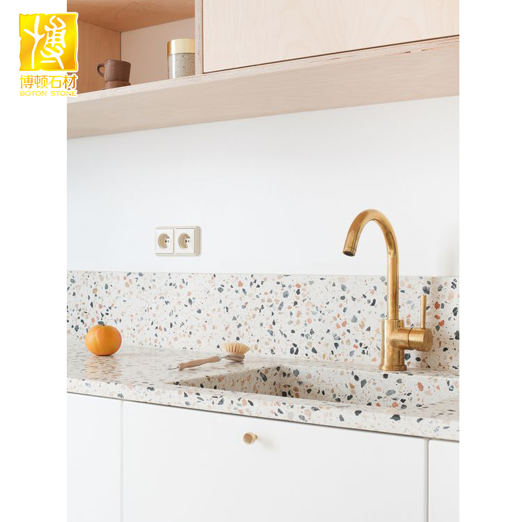 sample formica kitchen countertop terrazzo surfacing blanco countertops surface solid pd shop