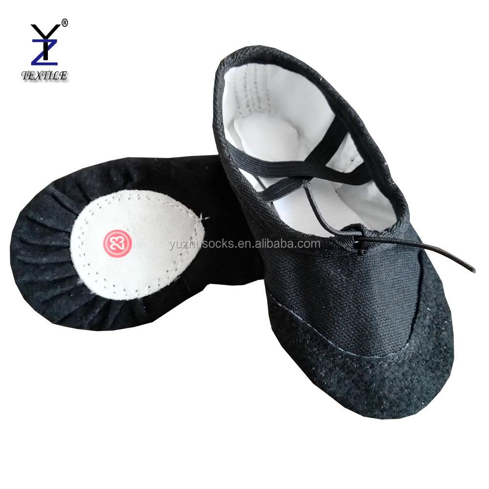 Black Colored Ballet Flat Dance Shoes