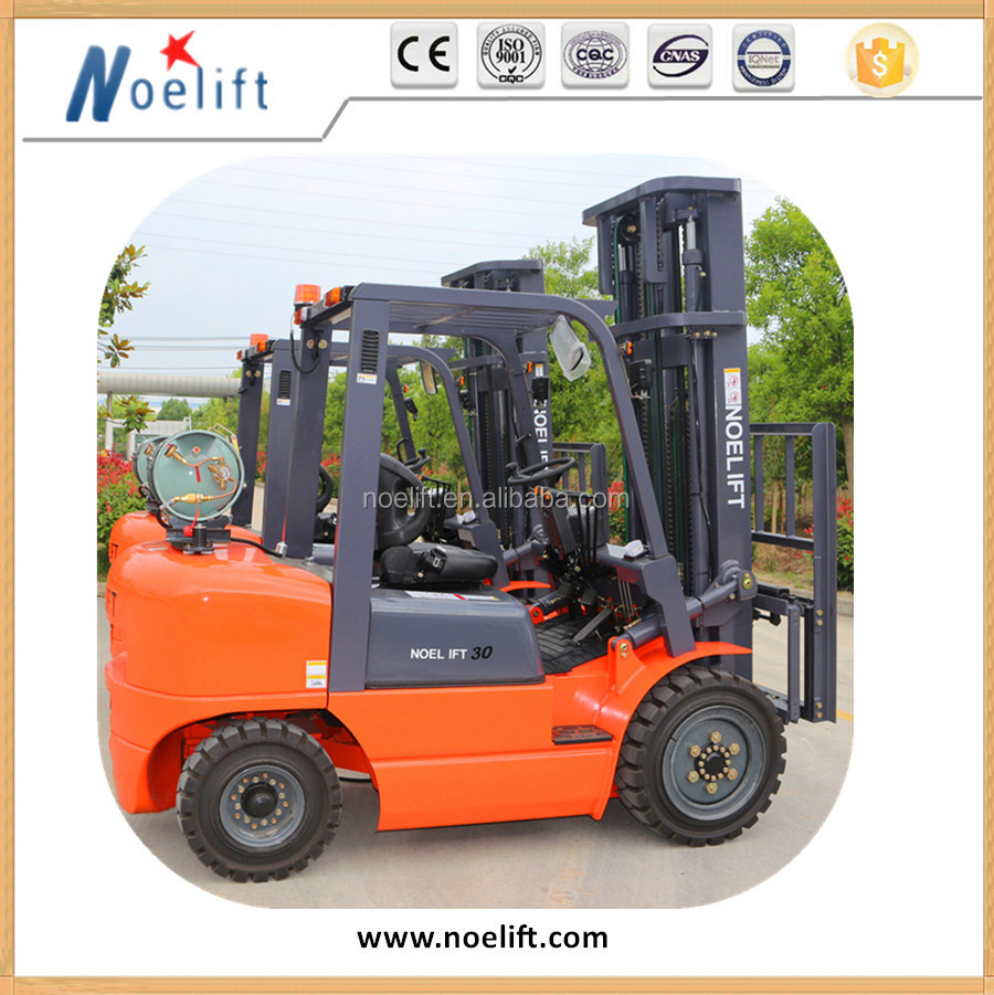 Dual Fuel Forklift Industrial Forklift Truck , 3000MM Lifting Height Propane Tank Forklift