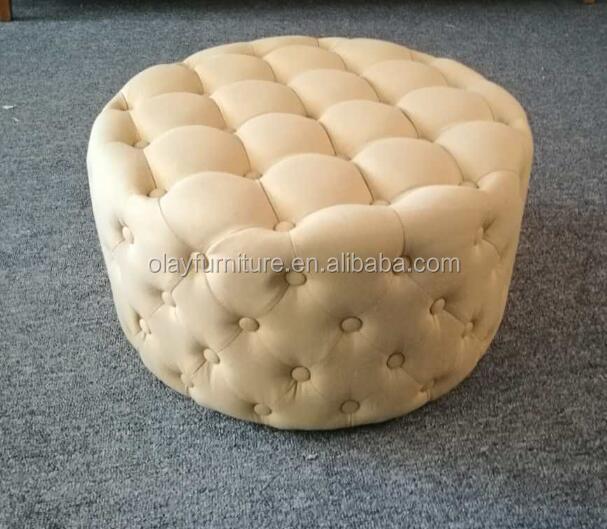 Tela grande mesa de centro redonda otomana redonda sofá Lino ...