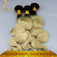 No Chemical Process No Smell Charming Ombre Human Hair Bundles 100% Remy Hair