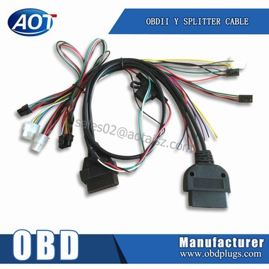 Car Alarm Wire Harness,Female 16pin Connectors,OBD Cable cabtyre cable
