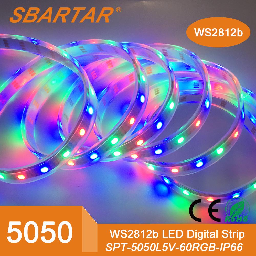 5 v flexibele 5050 ws2812b droom kleur led strip for Kleur led lampen