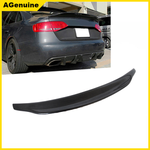 Ca UV highly polished real carbon fiber rear trunk spoiler back boot lip spoiler wing for Audi A4 S4 B8 B8.5