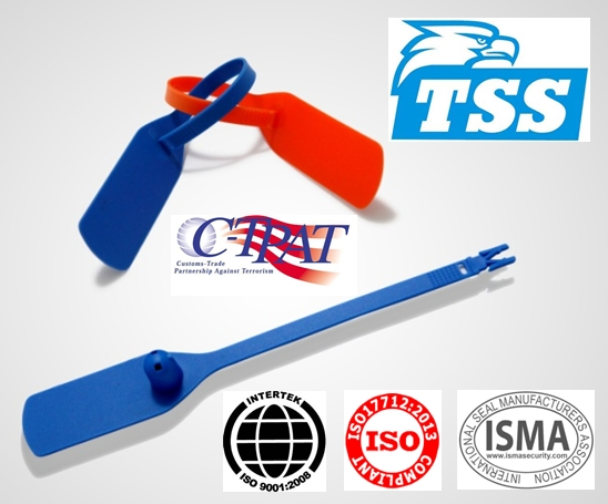 Hatch Safety Seal 187mm plastic security Seal Model No. TSS-PS01 (Xinfan Tote Box Seal)