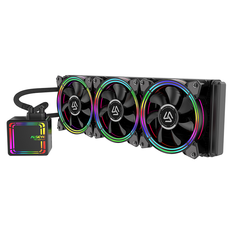 H360 น้ำ cooler pc programmable led rgb 120mm PWM Fan cooler สำหรับ lga และ amd