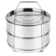 stainless steel stackable steamer insert pan for pressure cooker