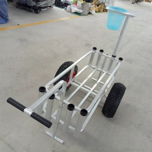 Two wheels Aluminum Fishing Beach Trolley Cart