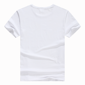 blank sublimation white custom men's t-shirt