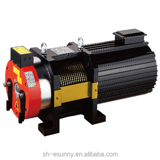 weight 220kg gearless elevator traction machine, residential elevators prices
