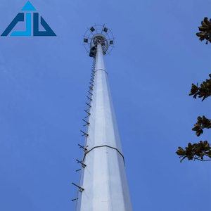 High quality galvanized steel telecommunication for base station monopole tower