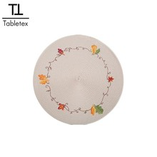 Tabletex ปักโครเชต์ doily quilted placemats และ coasters