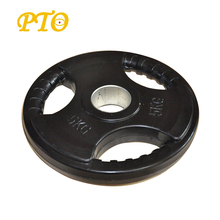 Hot sale Barbell Olimpic weight lifting plates with three holes