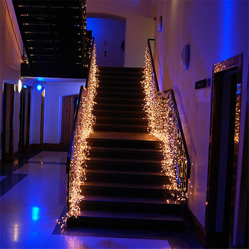 Led waterfall light icicle stripe window curtain fairy - Fairy light decoration ideas ...