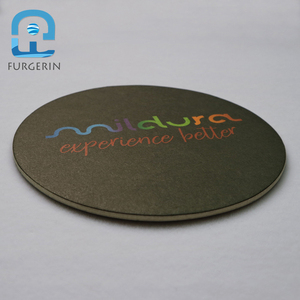 Custom design round beer cup mat disposable absorbent paper coasters for bar