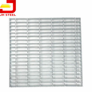 Hot Dip Galvanized Metal Grate Floor 325/30/100 Grating Steel Standard Size