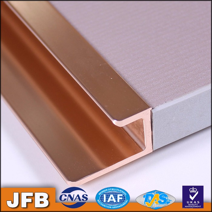 Rose Gold Color Profile Kitchen Cabinet Door Profile