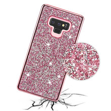Crystal Diamant Tpu PC Bling Phone Case Cover Voor Samsung Galaxy S9 s8 note 8 note 9 Bling Bling Telefoon case