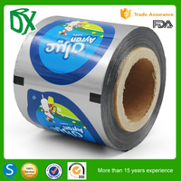 Peelable cup lidding film roll for packing Jelly, Juice, Yogurt, water cups