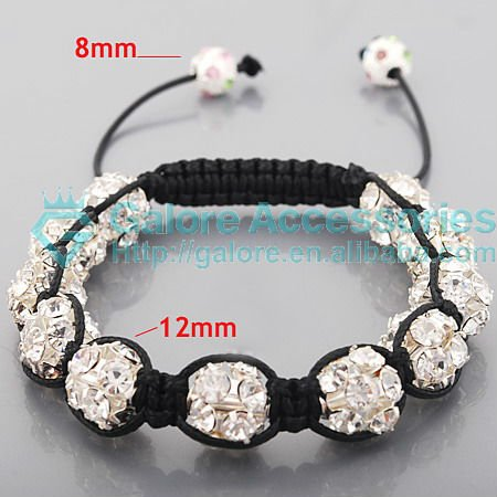 real 925 sterling silver fashion shamballa bracelet