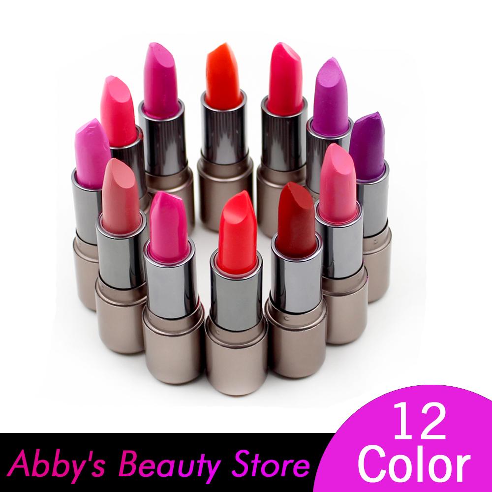 12 Pcs/Lot Cheap Makeup Matte Lipstick purple lipstick ...