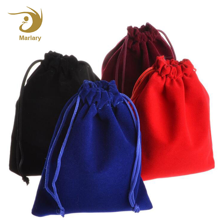 China Wholesale Good Quality Fashion Color Custom Logo Velvet Drawstring Jewelry Pouch Bag