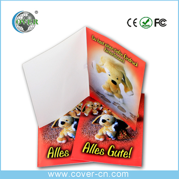 High quality programme handmade card greeting with music for happy birthday