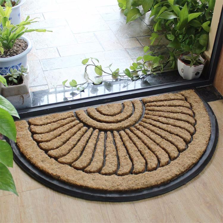 Semi Circle Rubber Molded Brush Coir Outdoor Mats Buy