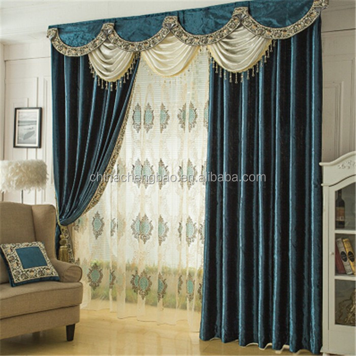 ltimos diseos de moda cortina cortinas cenefas cortinas de terciopelo azul