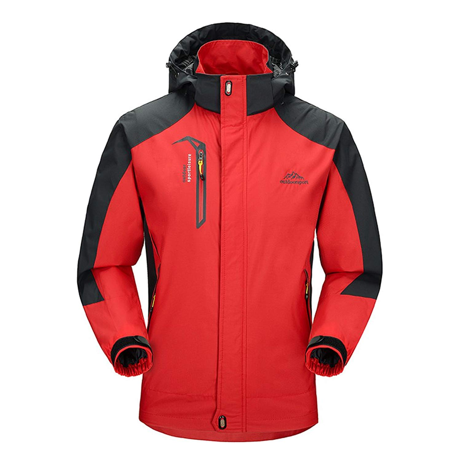6ff323bb3156 Get Quotations · BIYLACLESEN Waterproof Jacket Mens Outdoor Lightweight  Softshell Hiking Rain Jackets