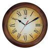 Qingfeng Wholesale Retro Vintage Decorative Round Shape Wooden Antique Wall Clock