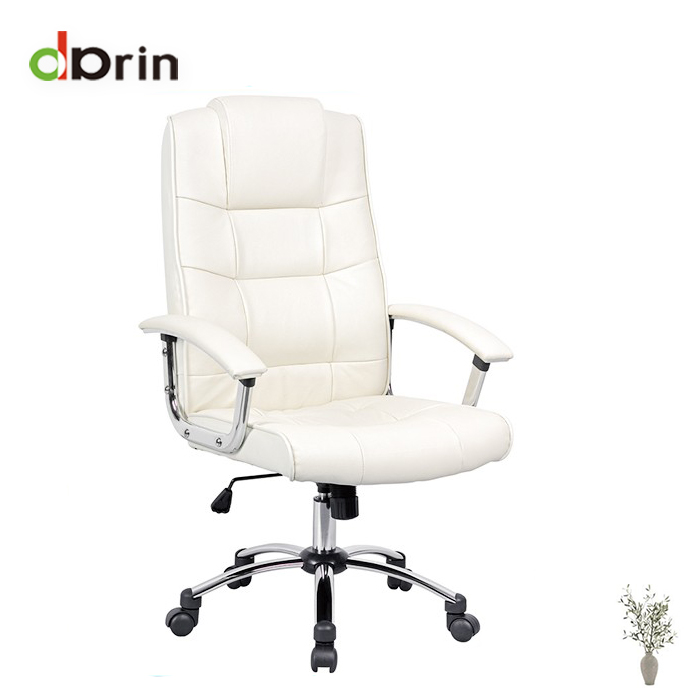 White Leather Back Executive Office