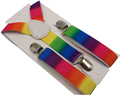 Free Shipping 2016 New Fashion 1 Inch Wide Adjustable Kids Suspenders Boys Rainbow suspenders