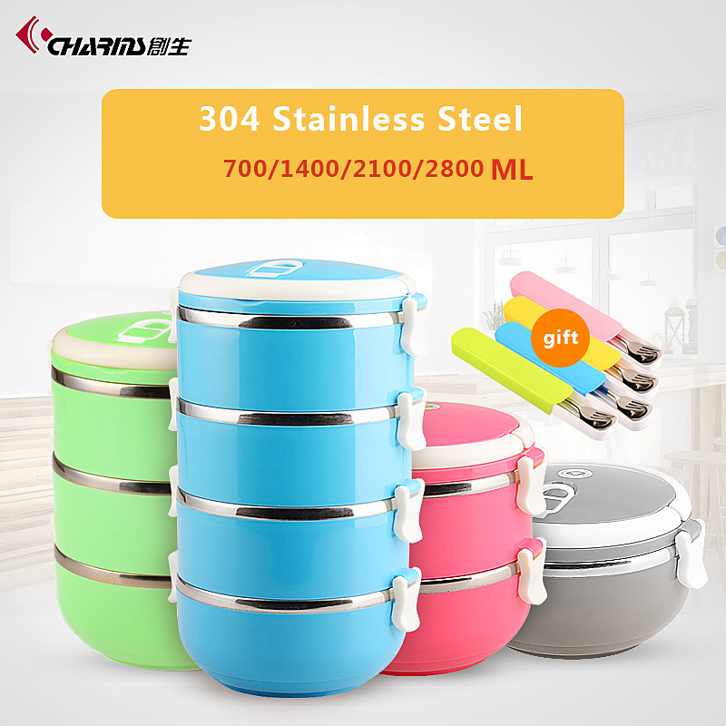Wholesale Bento Box Stackable Insulated Kid Vacuum Food Container Stainless 3layer Bento Lunch Box