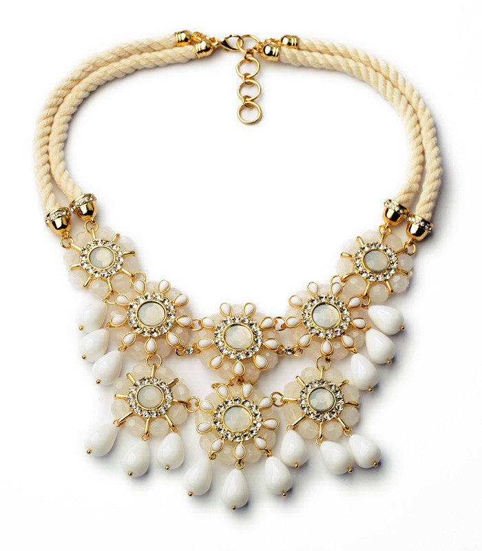 Xl01056 페르시 꽃 Bib 문 Necklace women