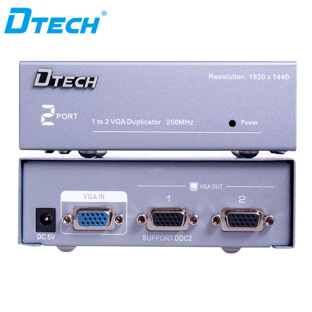 2way//Port SVGA//VGA Amplifier//Amp Duplicater//Multiplexor//Splitter PC//TV//Projector