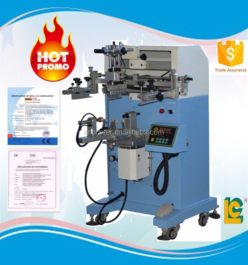 Hot sale and fast speed semi-automatic screen printer for CD,DVD printing with high precision