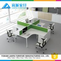 KL-09 staff desk with standard unique office desk and white computer desk