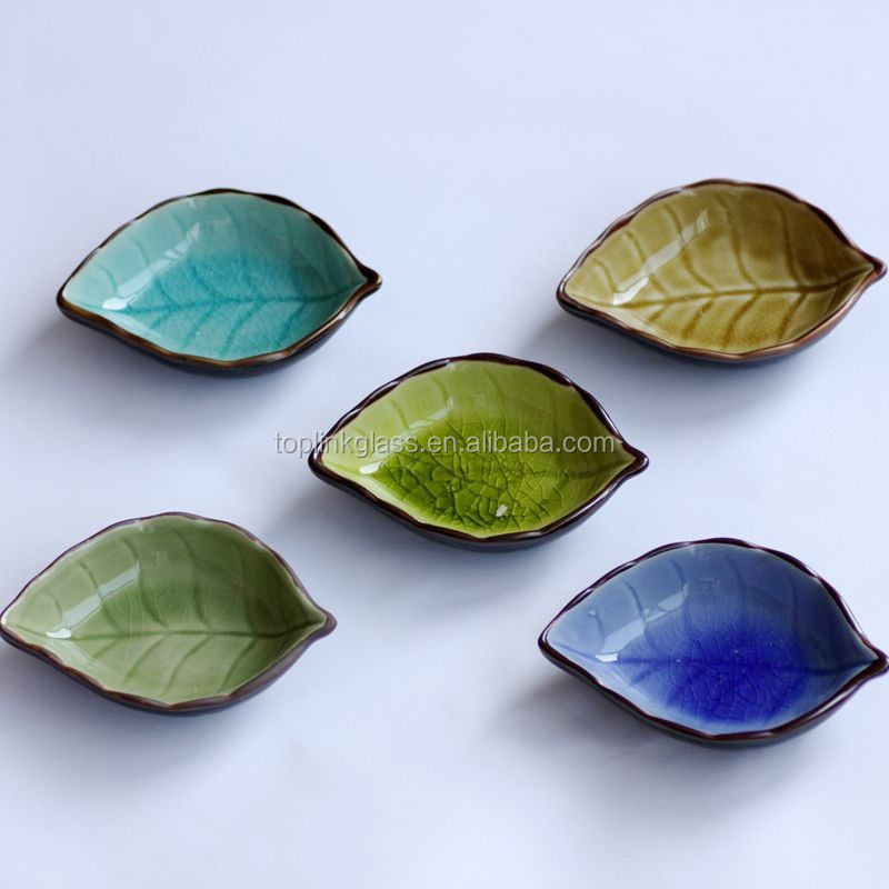 Ceramic tree leaf sauce plate