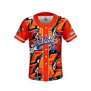 Atacado hot Custom Dri Fit Sublimada 100% Poliéster EsporteBaseball Jersey T Camisa Legal Padrão Jersey Jersey Design